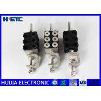 Buy Fiber Optic Two Hole Type Feeder Cable Clamp 1 - 1/4 Inch 304SS Material 6 Way Telecom Part at wholesale prices