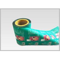 Quality Translucent Plastic Sleeving Roll / Vivid Printing Plastic Roll For Packing for sale