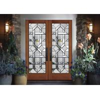 Buy cheap Interior Wood Doors Classical Art Glass Panels Thermal Sound Insulation from wholesalers