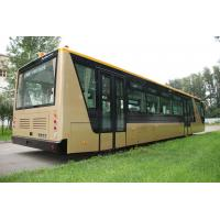 Quality Low Carbon Alloy Steel 51 Passenger Airport Apron Bus , 4 Strok Diesel Engine Bus for sale