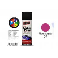 China Multi - PurposeRemovable Rubber Spray Paint Fluo Purple For Wheel Color Change on sale