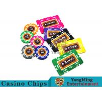 Quality Entertainment 12g 760pcs Custom Poker Chip Sets With Anti - Off Film Protection for sale