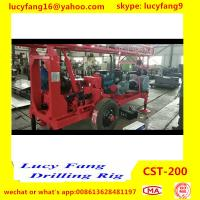 China Popular Good Quality Tractor Mounted Mobile  CST-200 Hydraulic Water Well Drilling Rig For 200 m Depth for sale