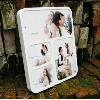 Quality wall-mounted white acrylic photo frame for sale