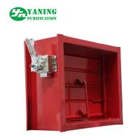 Mechanical Switch Red Aluminum Return Air Grille With Adjustable Opposed Blade Damper for sale