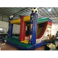 Quality Inflatable soccer combo popular inflatable fussball jump with slide on sale customized inflatable football jump house for sale