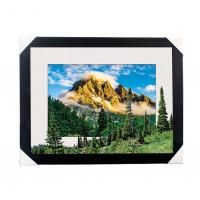 Quality Eco-friendly 30x40CM 5D Lenticular Printing Services With PS Black Frame For Home / Hotel for sale