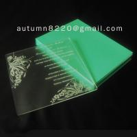 Quality customized acrylic invitation for sale