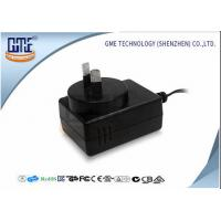 Quality 1.25A Black Audio Wall Mount Power Adapter For Australia Low Ripple for sale