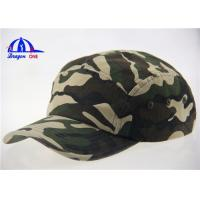 Quality Camo Baseball Caps With Metal Buckle Back Closure for sale