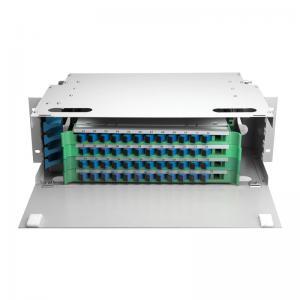 Quality Outdoor 48 Port ODF Optical Distribution Frame IP66 Mild Steel Fiber Optic Patch Panel for sale