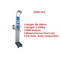 Quality Medical BMI Coin operated body fat Composition height weight measuring machine with printing and blood pressure for sale