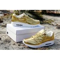 Quality Nike airmax 1 SP liquid gold running shoes liquid silver sneakers for men and women size for sale