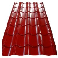 Quality 0.4mm PE Coated Metals Roofing Tile / Metal Roof Tile Sheet Building Material for sale