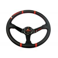 Quality Rubber Universal Racing Steering Wheel With Good Operation Performance for sale