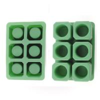 Durable Silicone Ice Shot Glass Molds, 6 Cups Silicone Square Ice Cube Trays