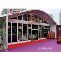 China Aluminum Pvc Arcum Clear Span Tent For Real Estate Opening 1200 People Seater Guest on sale