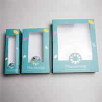 China Light White Card Board Paper Gift Box With PVC Window Logo Customed Printing on sale