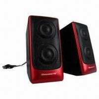 Quality Desktop Hi-fi USB 2.0 Portable Speakers with 4Ω Impedance for sale