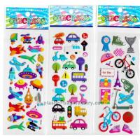 Quality Decorative Christmas Puffy Stickers , Waterproof 3D Puffy Stickers Gloss Lamination for sale