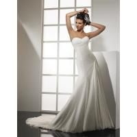 Quality NEW!!! Strapless A line skirt wedding dress Chiffon Bridal gown #dq4870 for sale