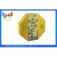 Quality Recycled Custom Gift Boxes Gold Octagon Shaped for Mooncake Packaging Design for sale