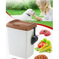 China 40L 15kgs 17lbs high quality stocked customized pet food storage container bucket dispenser dog food can box for dog cat on sale