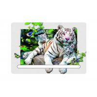 Quality 0.6mm Pet 5d Attractive White Tiger 7x11cm Magnets With Notepad  For Refrigerator for sale