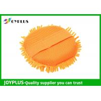 Quality Eco Friendly Chenille Car Wash Pad , Chenille Microfiber Wash Mitt JOYPLUS for sale