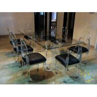 Quality acrylic kitchen table sets cheap for sale