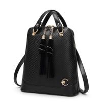 Quality 27 * 30 * 12 Cm Fashion Ladies Backpack Tassel Decoration With Premium PU Leather for sale