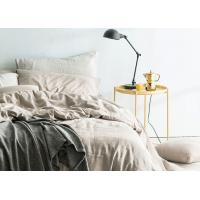 Buy Linen Cotton Dyed Plain Bedding Sets , 4Pcs Comforter Bedding Sets For Home at wholesale prices