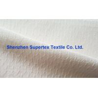 Quality Coat  Cotton Nylon Jacquard Crepe Silk Print Fabric In Offwhite Or Printed for sale