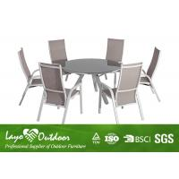 Quality Nice Looking 7PCS Extendable Dining Table Set With Adjustable Sling Chairs for sale
