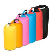 China Orange 20L Waterproof Dry Bag PVC Tarpaulin Fabric Customized Logo on sale