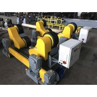 Quality 20T Wind Tower And Oil Pipe Welding Rollers , Yellow Color Welding Pipe Stands for sale