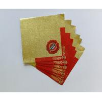 Quality Professional Beer Neck Aluminum Foil Labels Water Proof Self Adhesive for sale