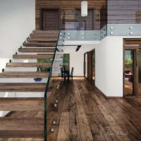 Buy cheap floating steel wood staircase indoor stairs from wholesalers