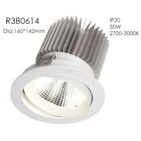 Quality Aluminum High Power 50w 3000k White Fixture Spring Install 1400mA 37V Five Star Hotel Downlights/R3B0614 for sale