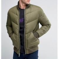 Quality Big Size Winter Down Bomber Jacket , Slim Fit Nylon Flight Jacket Dry Clean for sale
