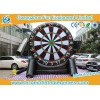 Quality Single Dart Board Commercial Inflatable Football Games For Kids 4mH for sale
