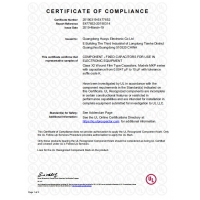Guangdong Huayu Electronic Company Limited Certifications