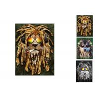 Buy cheap Hotel Decoration Lenticular Flip Picture / 0.6mm PET 3 In 1 3D Animals Photos from wholesalers