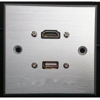 Buy cheap HDMI & USB Aluminum Alloy Wall Plate , Electrical Wall Socket For Hotel / Home from wholesalers