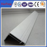 Quality sand blasting Silvery anodized aluminum solar mounting frame manufacturers for sale