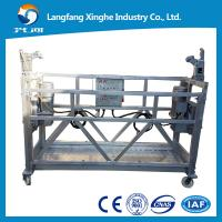Buy Masting climbing suspended scaffolding platform with safety device zlp630 zlp800 at wholesale prices