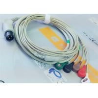 M&B 6 Pin Snap AHA ECG Patient Cable For Medical Equipment , Electrode Lead for sale
