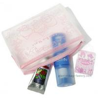 """Quality Hello Kitty Clear Plastic Cosmetic Bags Offset Printing Technique 7.5"""" X 2"""" X 5.5"""" Size for sale"""