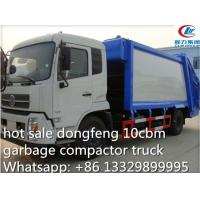 Quality dongfeng tianjin 10cbm-12cbm garbage compactor truck for sale, refuse garbage truck for sale
