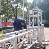Portable Lighting Exhibition mini light line array lift tower steel flat background spigot aluminum truss on sale for sale